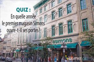 En quelle année le premier magasin Simons ouvre-t-il ses portes?