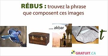 Rébus : trouvez la phrase que composent ces images.