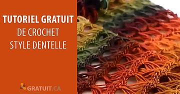 Tutoriel de crochet style dentelle pour faire un foulard éternel