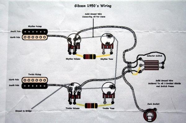 Gibson 50 S Wiring Circuit Vs Modern, Gibson 50 S Wiring Vs Modern