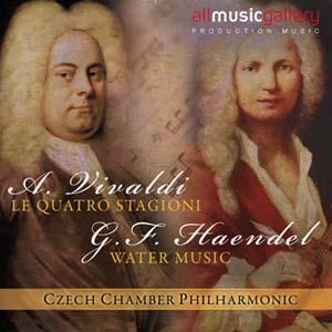 Album A.Vivaldi, Le quattro stagioni, G.F.Haendel Water Music, Suite No.1 Czech Chamber Philharmonic