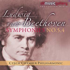 Album Ludwig van Beethoven, Symphonies No.5,4 Czech Chamber Philharmonic