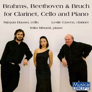 Album Brahms, Beethoven & Bruch for Clarinet, Cello & Piano