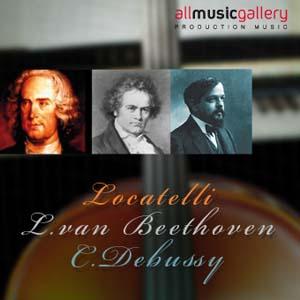 Album P.Locatelli, L.van Beethoven, C.Debussy