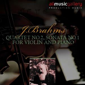 Album J.Brahms, Quartet No.2, Sonata No.1 for Violin and Piano