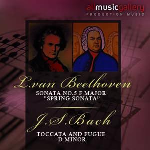 """Album L.van Beethoven, Sonata No.5 F major """"Spring Sonata"""", J.S.Bach, Toccata and Fugue D minor"""