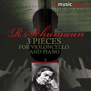 Album R.Schumann, 3 pieces for v.cello and piano