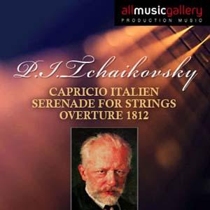 Album P.I.Tchaikovsky, Capricio Italien, Serenade for Strings, Overture 1812