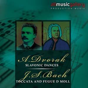 Album A.Dvorak, Slavonic Dances, J.S.Bach, Toccata and Fugue D moll