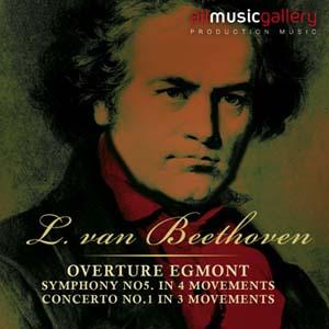 Album L.van Beethoven, Overture Egmont, Symphony No5. In 4 movements, Concerto No.1 in 3 movem.