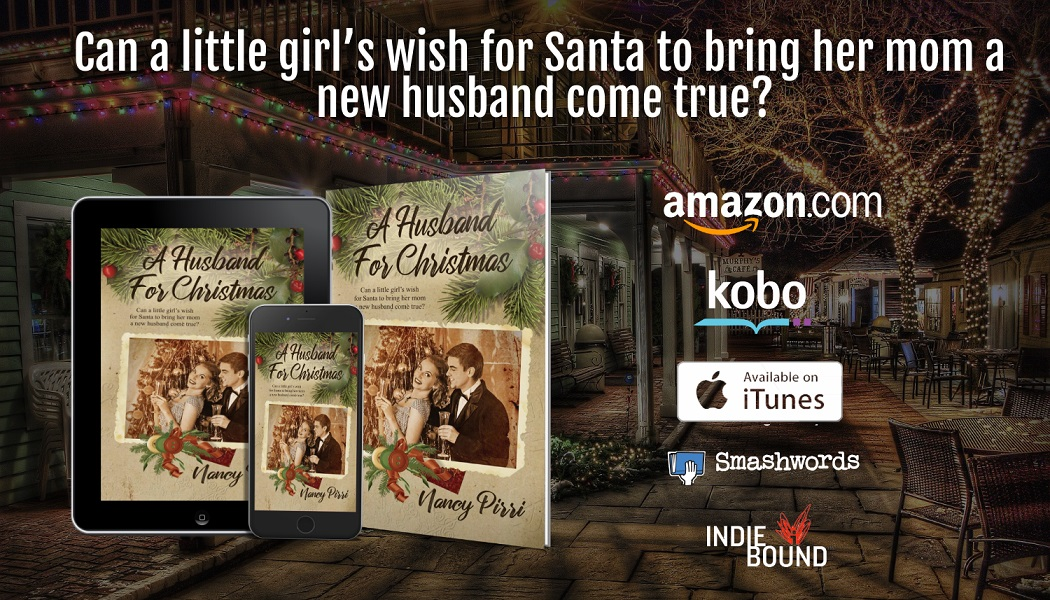 A Husband for Christmas tablet, phone, paperback