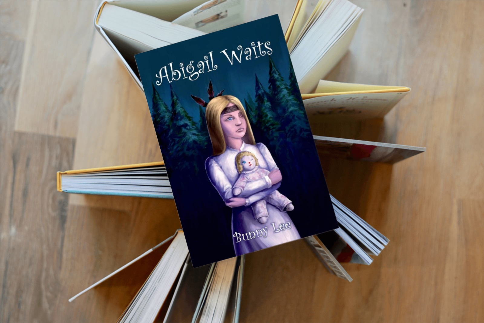 Abigail Waits stacked book