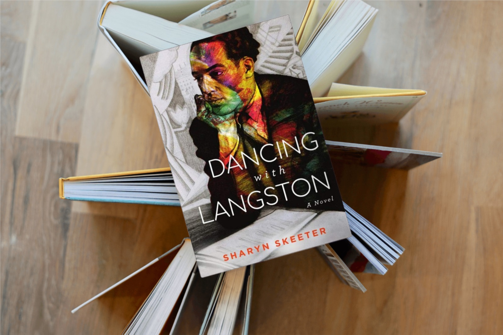 Dancing With Langston book on table