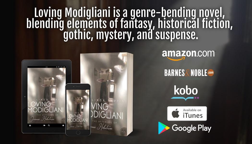Loving Modigliani tablet, phone, paperback