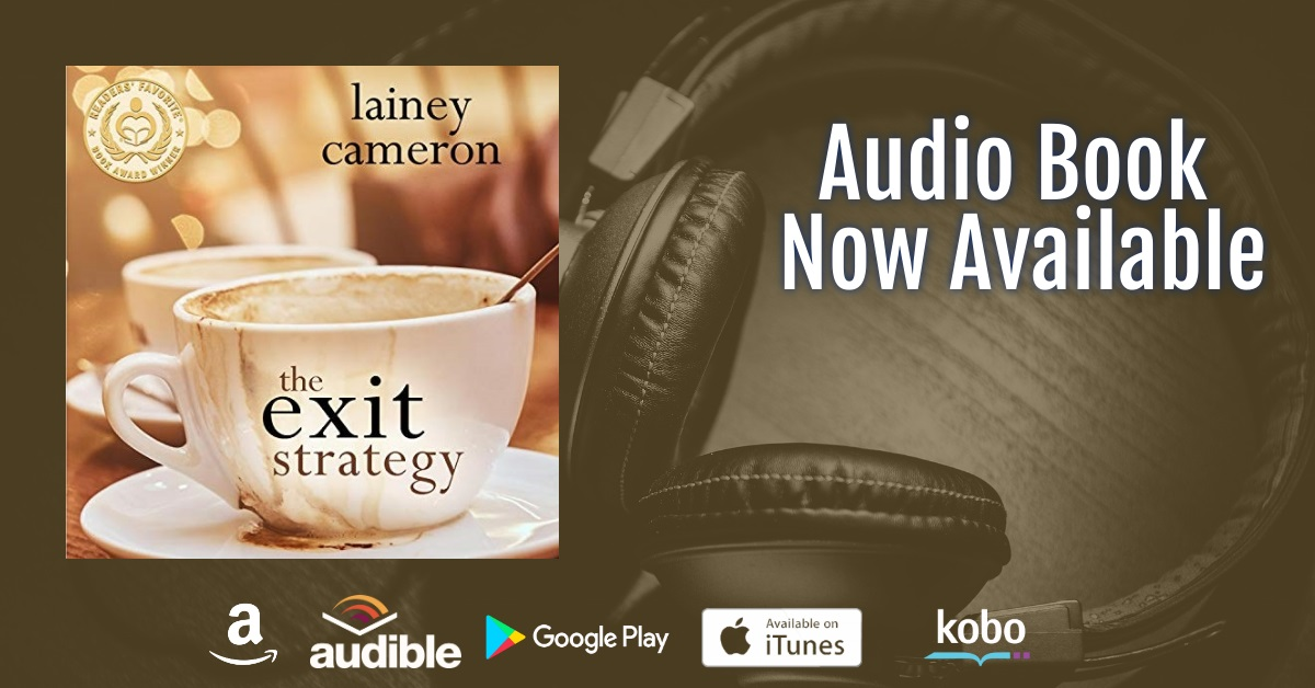 The Exit Strategy coffee and headphones