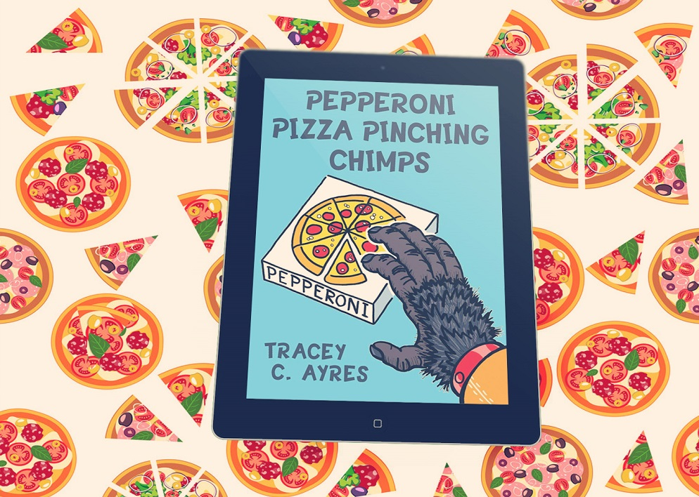 Pepperoni Pizza Pinching Chimps tablet