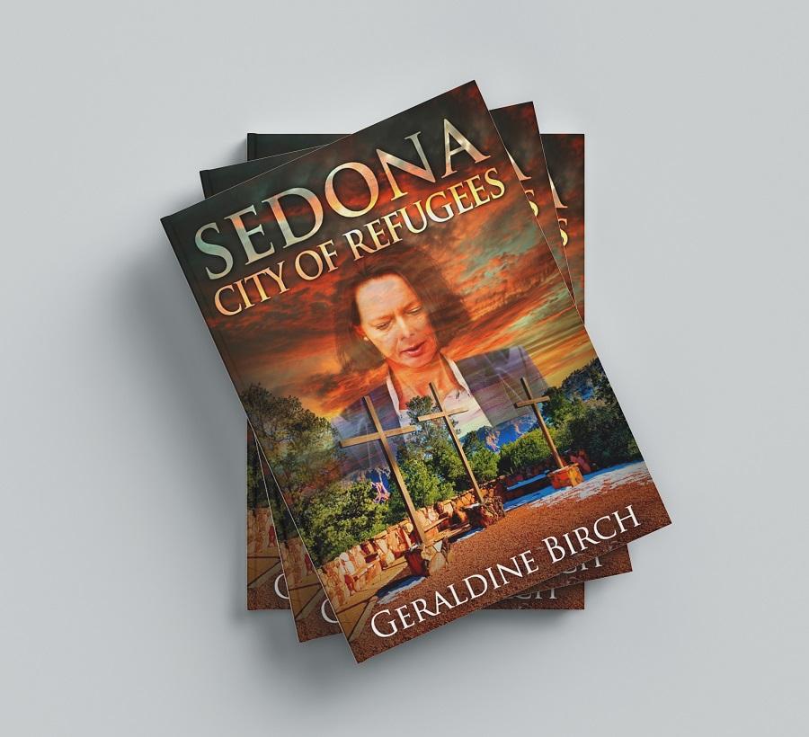 Sedona: City of Refugees stacks of books