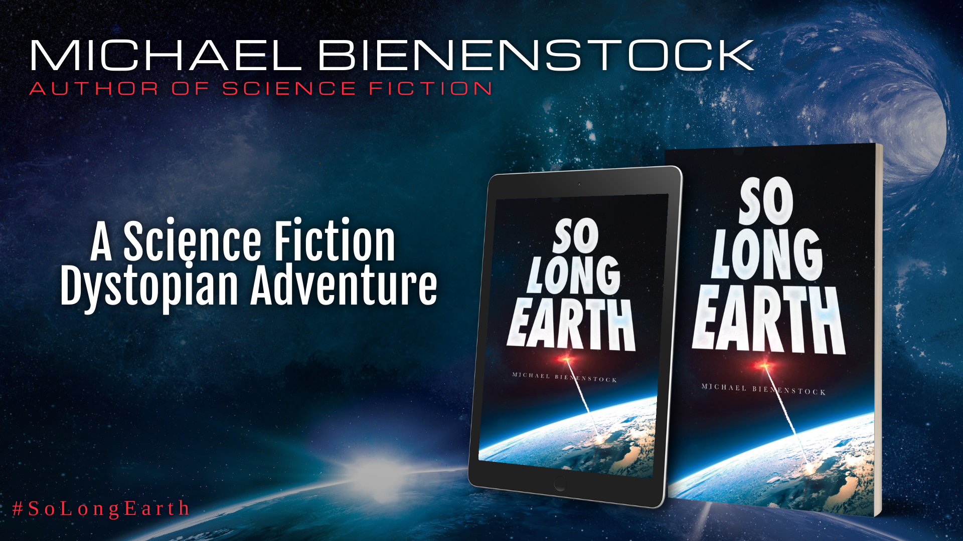 So Long Earth tablet, book