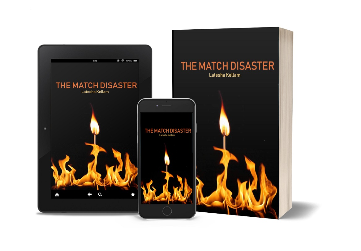 The Match Disaster tablet, phone, paperback
