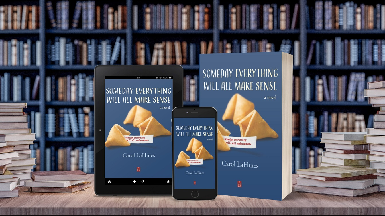 Someday Everything Will All Make Sense tablet, phone, paperback