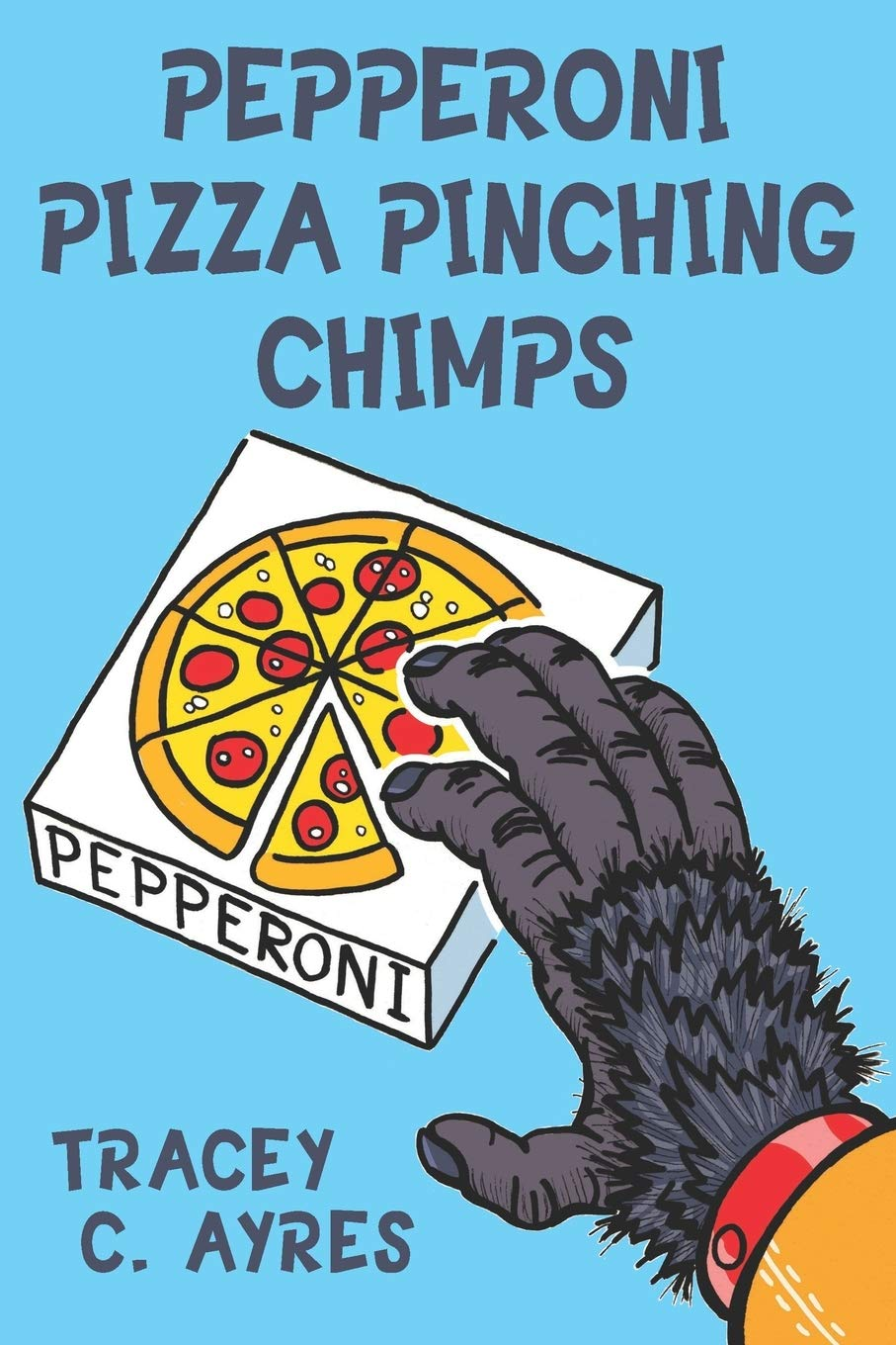 Pepperoni Pizza Pinching Chimps cover
