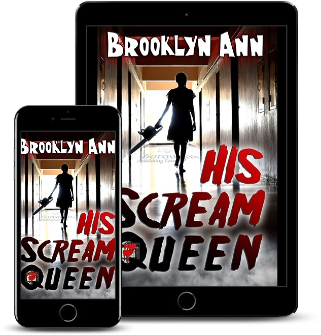 His Scream Queen tablet, phone