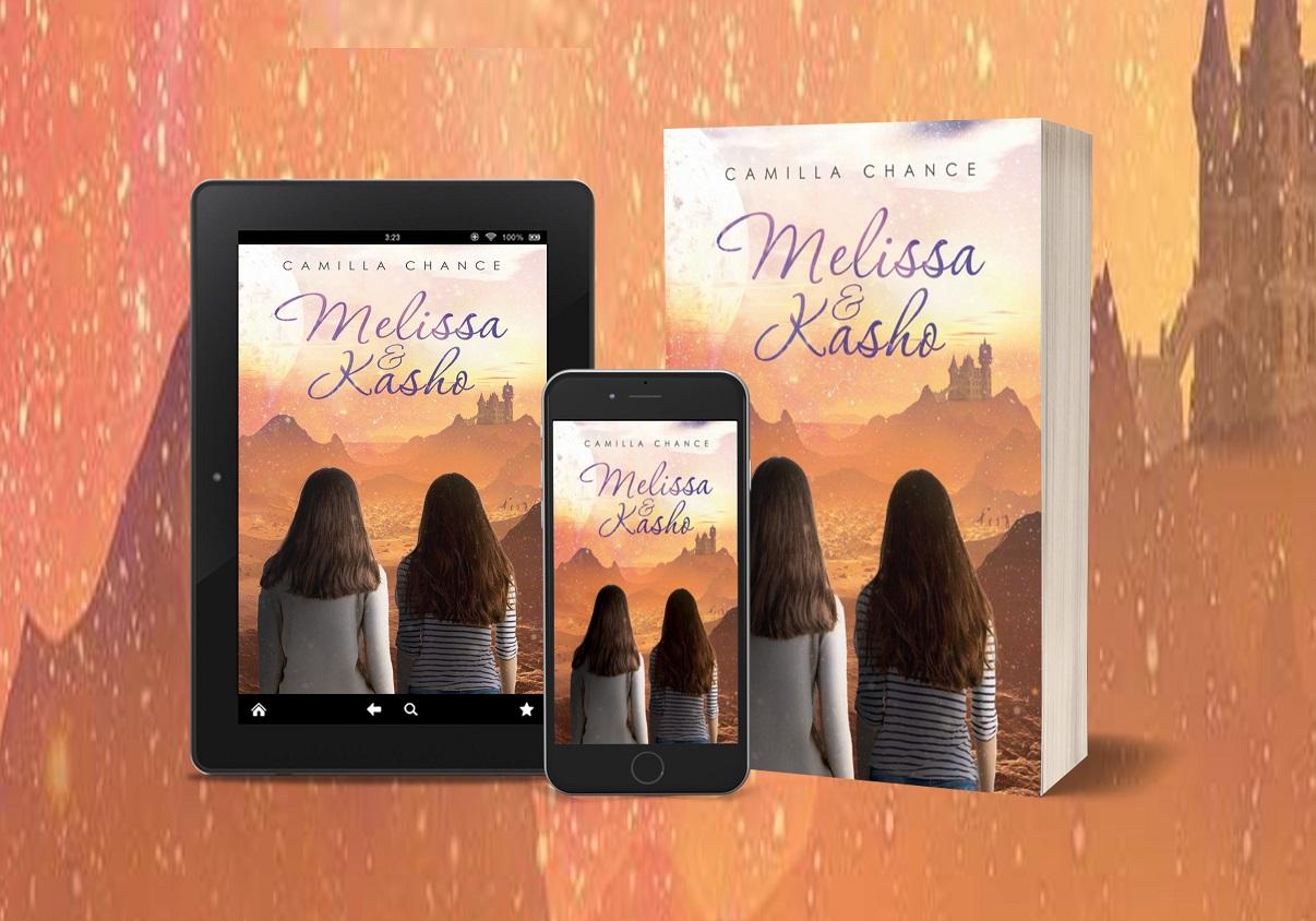 Melissa & Kasho tablet, phone, paperback