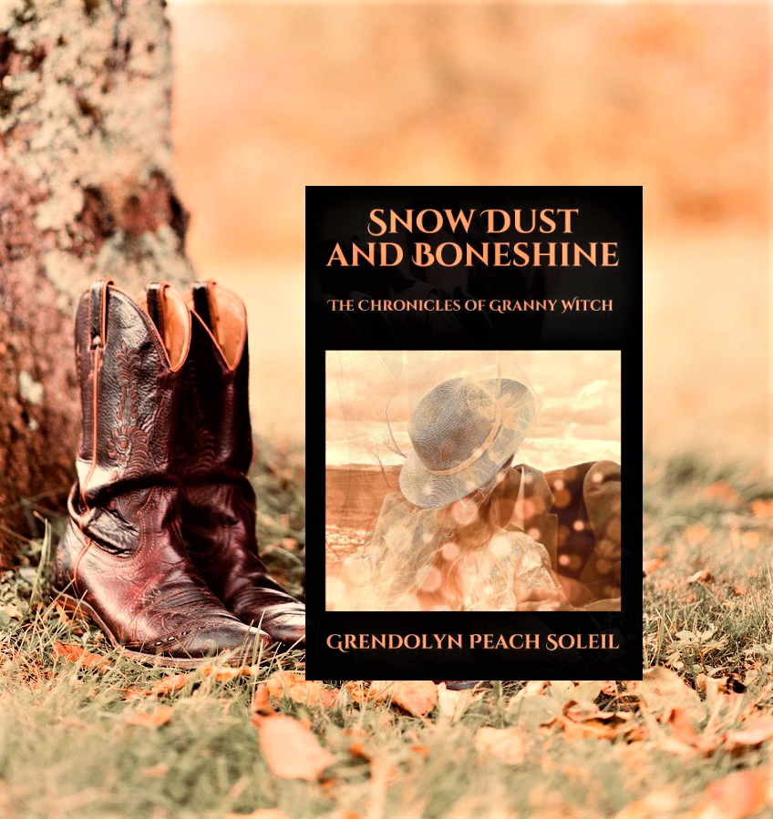 Snow Dust and Boneshine boots and book