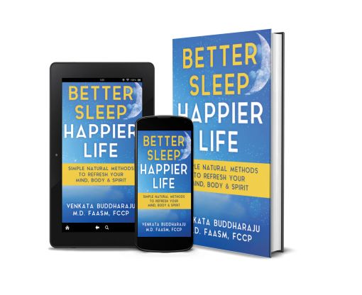 Better Sleep, Happier Life tablet, phone, hardback