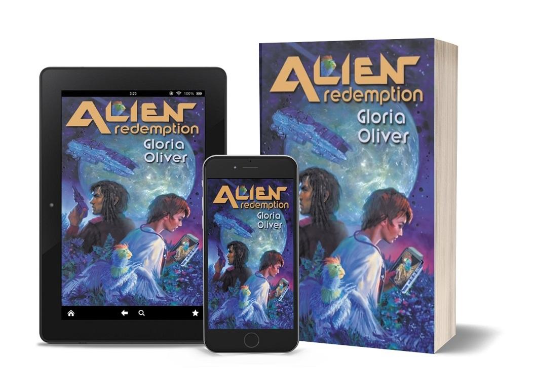 Alien Redemption tablet, phone, paperback