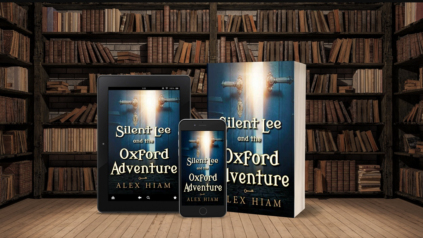 Silent Lee and the Oxford Adventure tablet, phone, paperback