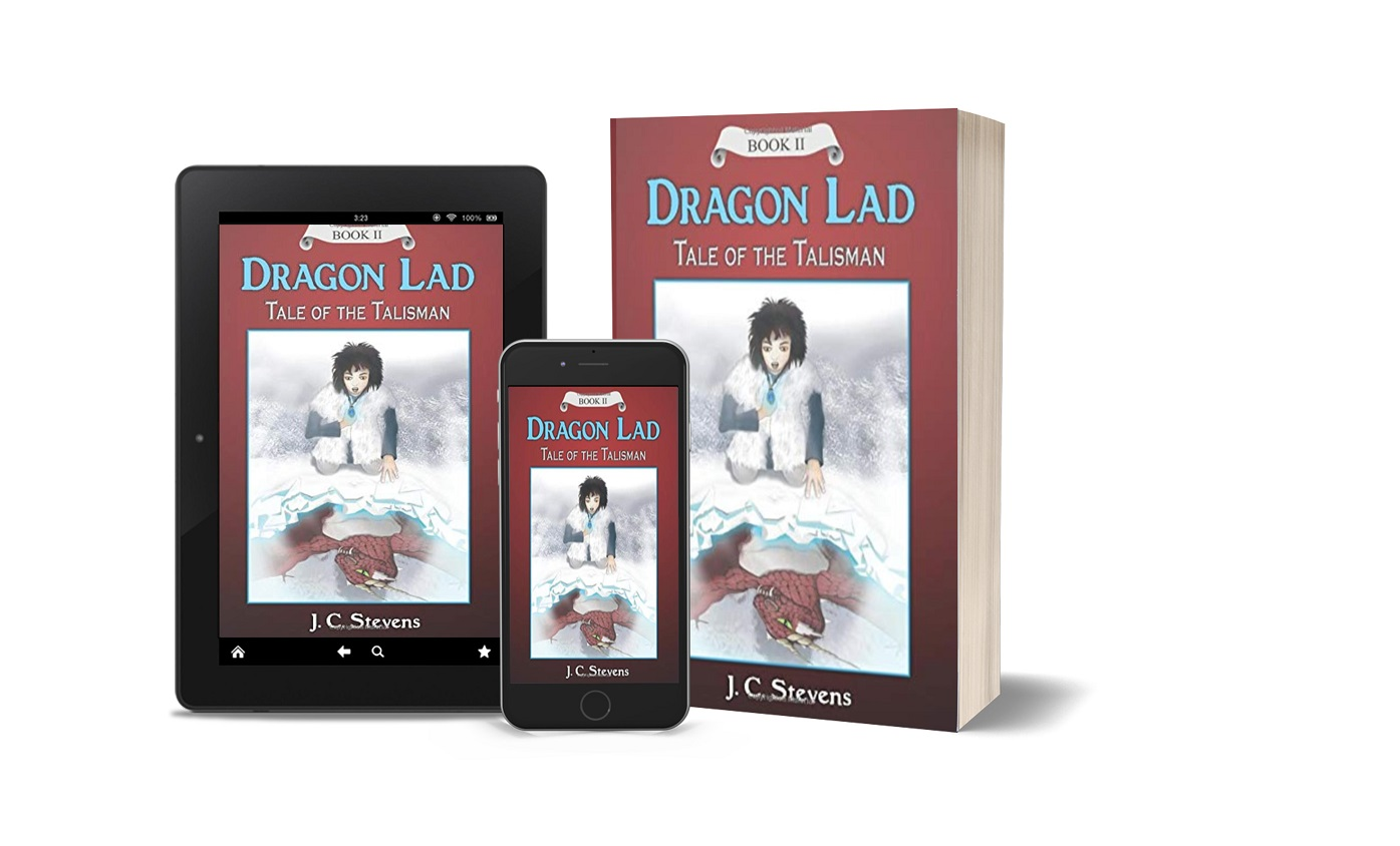 Dragon Lad: Tale of the Talisman tablet, phone, paperback