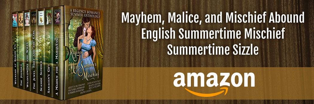 Regency Mid-Summer Mischief standing books