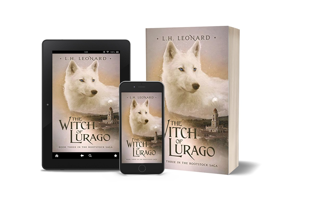 The Witch of Lurago tablet, phone, banner