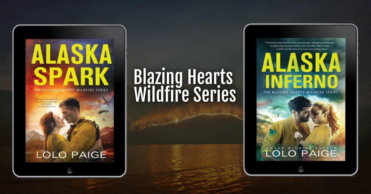 Blazing Hearts Wildfire Series banner