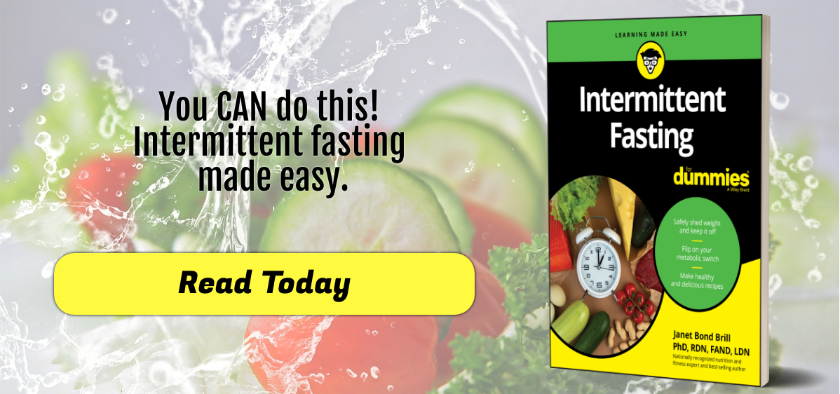 Intermittent Fasting for Dummies standing book