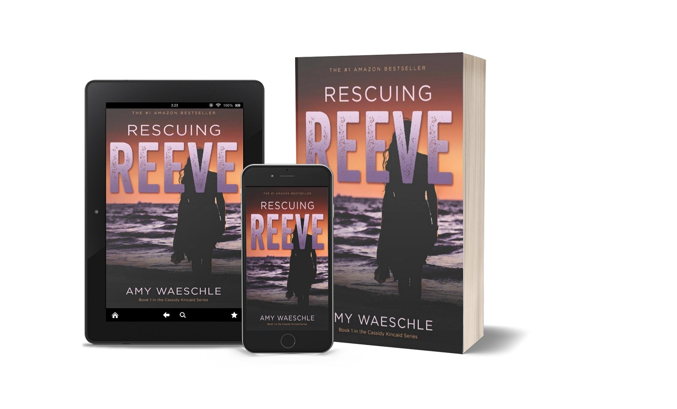 Rescuing Reeve tablet, phone, paperback