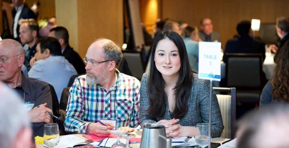 Participants at the Renewable Energy Challenge hard at work. Brought to you by the Vancouver Economic Commission, C40 Cities, and Renewable Cities. Part of GLOBE 2016.