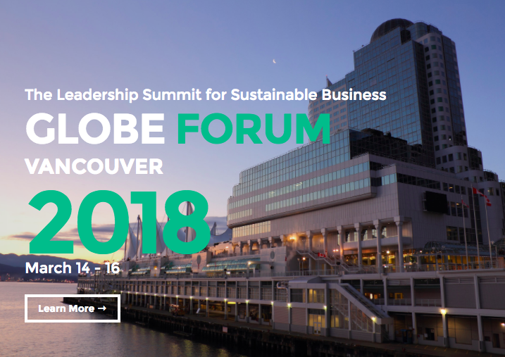 Visit the official GLOBE Forum 2018 Website for more details on passes, speakers, themes, and event.