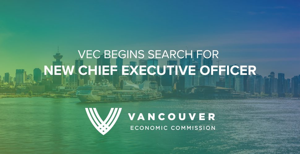 Following the departure of former CEO Ian G. McKay, who resigned his position to take up the reins of federal investment attraction agency Invest in Canada, the Vancouver Economic Commission has begun its search for a new CEO.