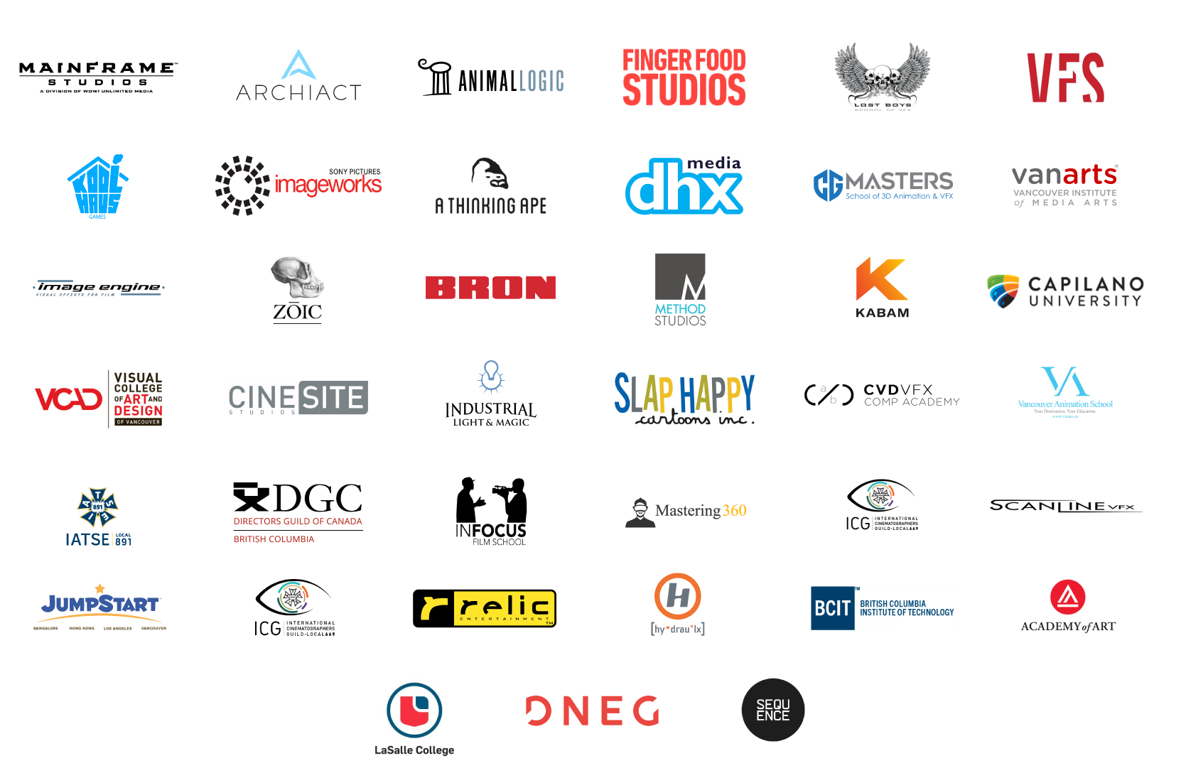 Vancouver Digital Entertainment Career Fair 2019 Exhibitors