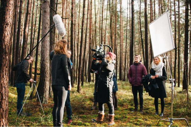 Film & TV Production in Vancouver - Film crew in the forrest