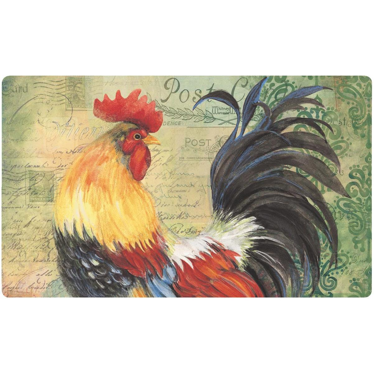 Mohawk Home 18 In X 30 Colorful Rooster Kitchen Anti Fatigue Mat Hills Flat Lumber