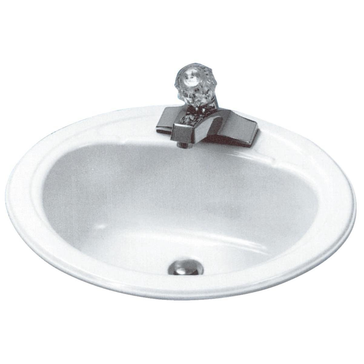 Briggs Anderson Oval Drop In Bathroom Sink White Hills Flat Lumber