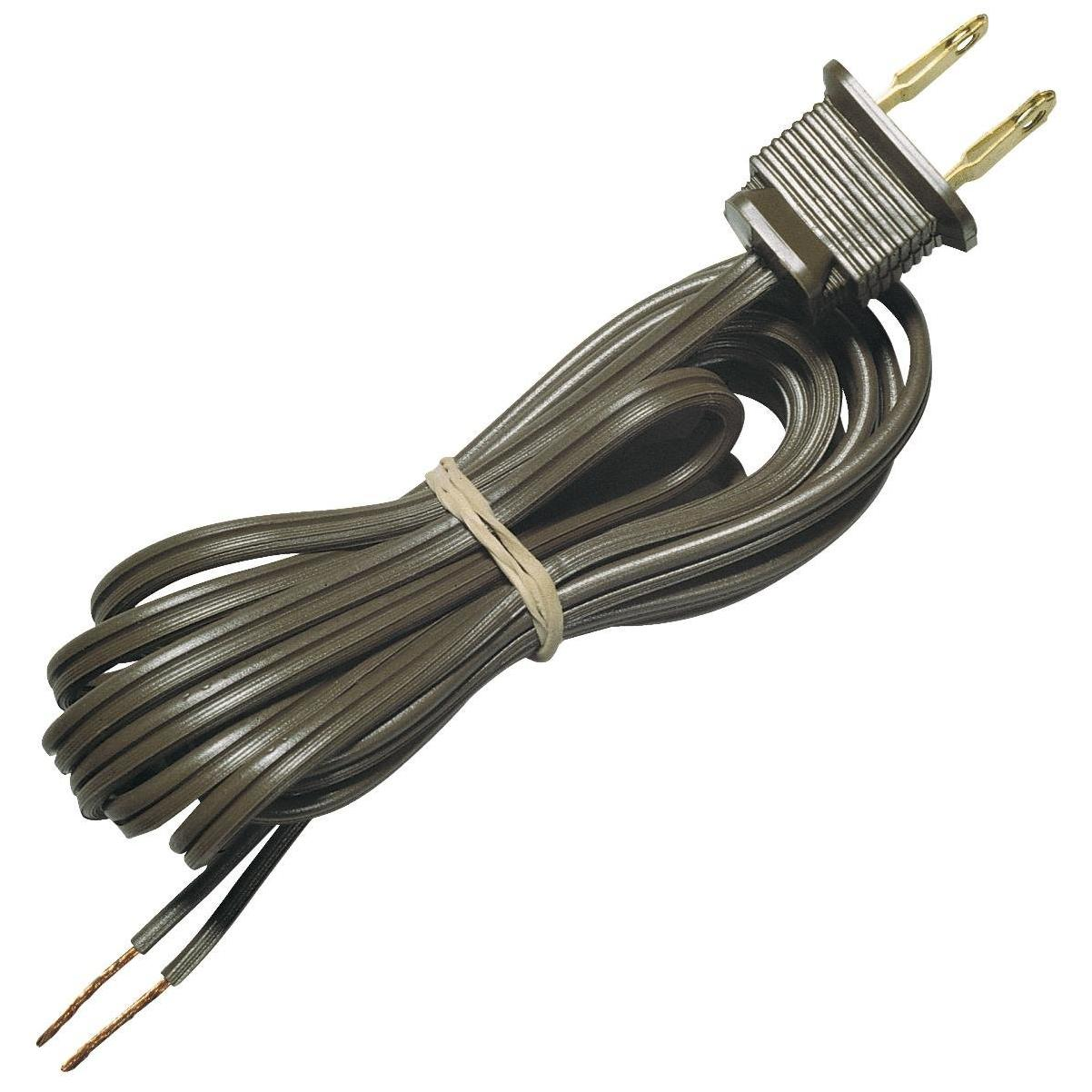 Westinghouse 8 Ft 18 Ga Brown, Replacement Lamp Cord With Flat Plug