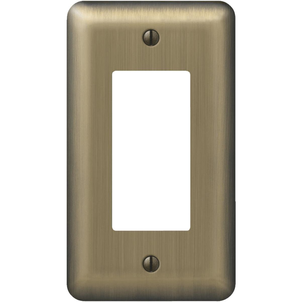 Amerelle 1 Gang Stamped Steel Rocker Decorator Wall Plate Brushed Brass Trinity Lumber