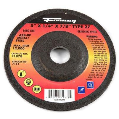 5 In X 1 4 In X 7 8 In Metal Type 27 A24r Bf Grinding Wheel Near Me Coopers True Value