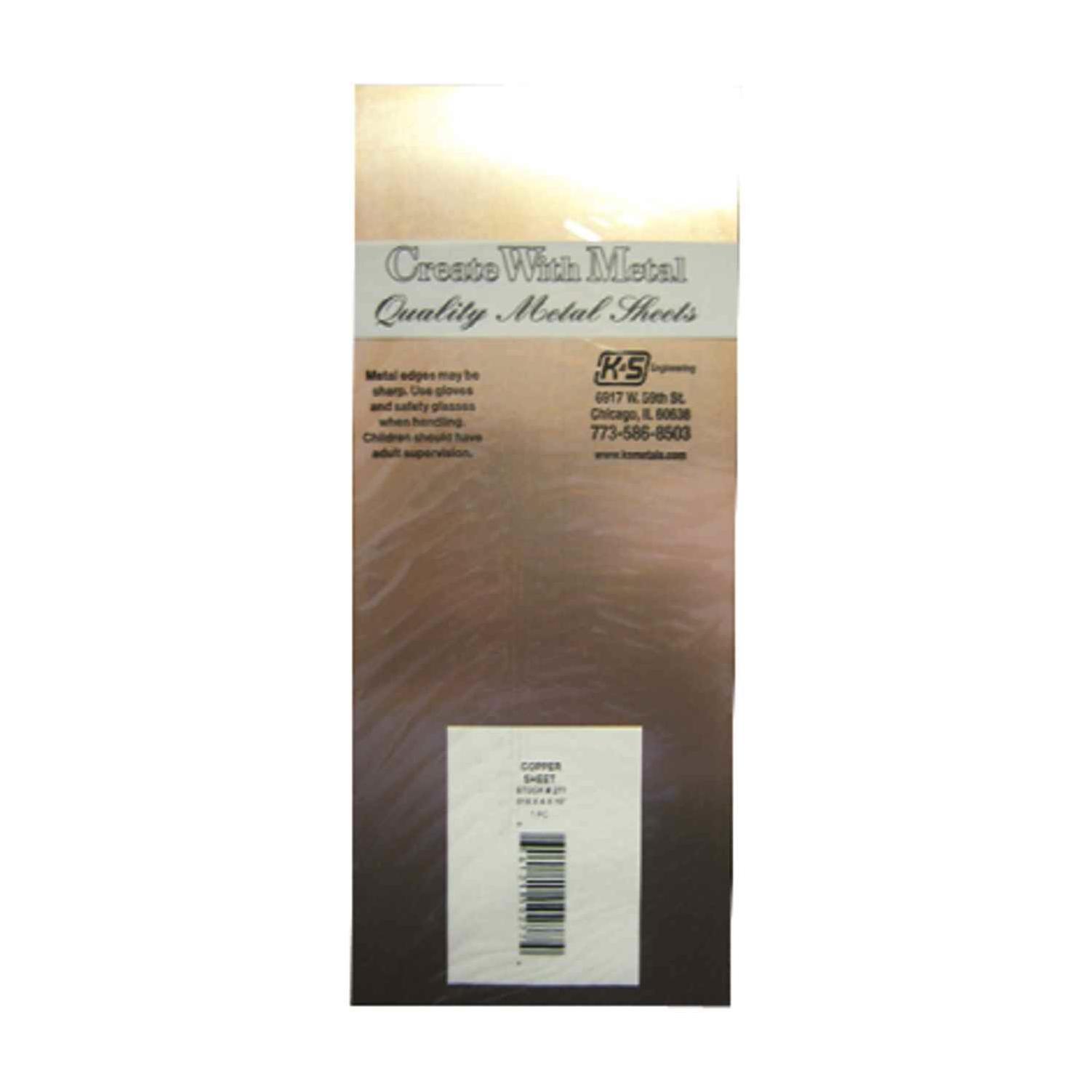 Metal Sheets & Flat Stock Tin Sheet Stock x 10 In K&S 4 In x .013 ...