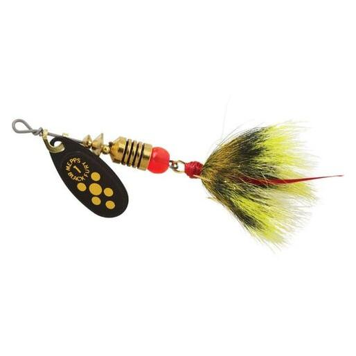 Mepps Bf1t Y Black Fury 1//8 Oz Yellow Dot Bass Fishing Spinner for sale online