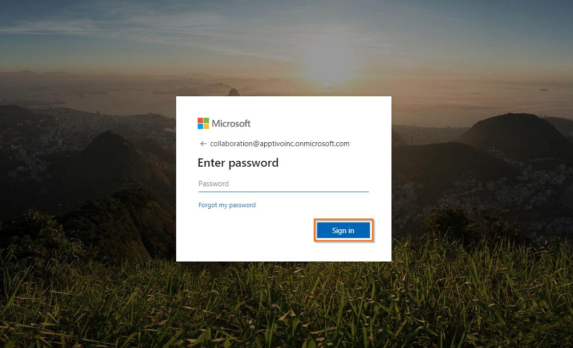 microsoft enter password